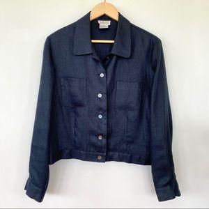 Talbots 💯 linen jacket